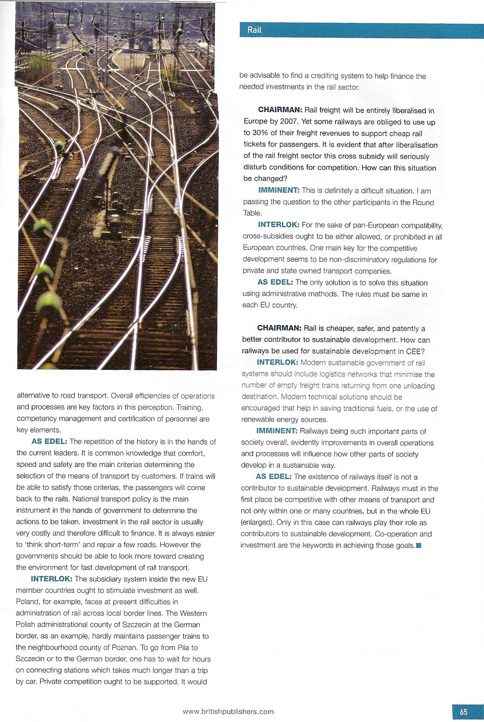 the importance of the railroads development to society